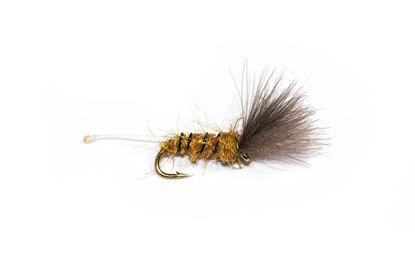 Fish Fishing Flies Little Bee Brown Nylon Tail CDC.