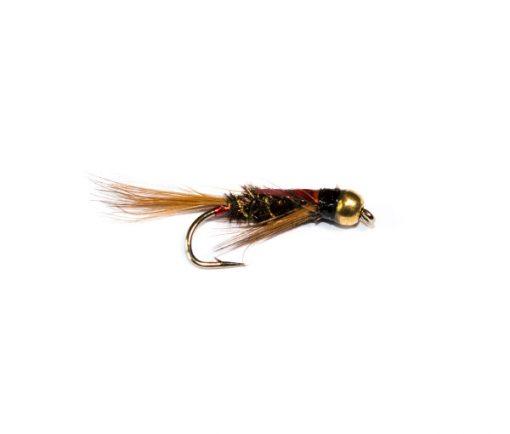 Fish Fishing Flies Brand 3D Red Goldhead Diawl Bach Nymph