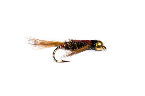 Fish Fishing Flies Brand 3D Red Goldhead Diawl Bach Nymph