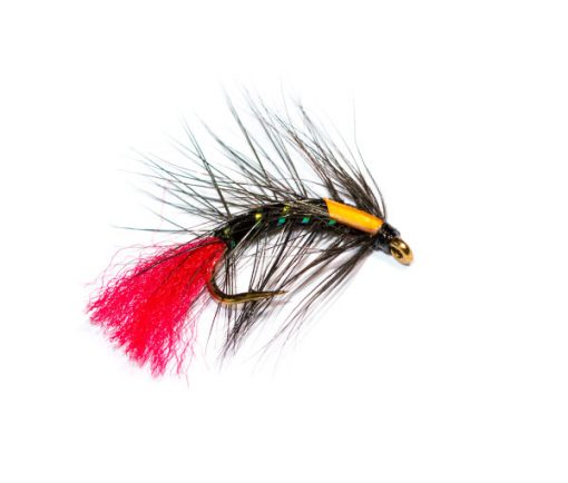 Fish Fishing Flies Brand, Black Snatcher Red Tag