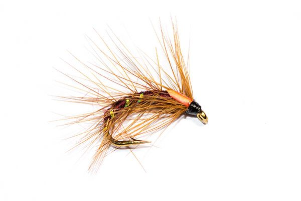 Fish Fishing Flies Brand. Claret Snatcher type fishing flies. Part of the Snatcher family of trout fishing flies