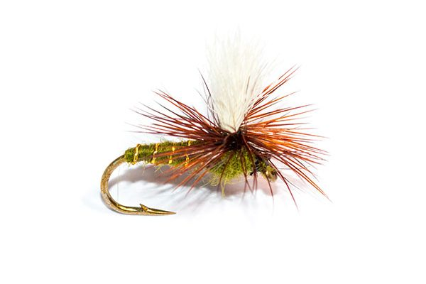 Fish Fishing Flies Brand, Dry Parachute Greenwells Emerger