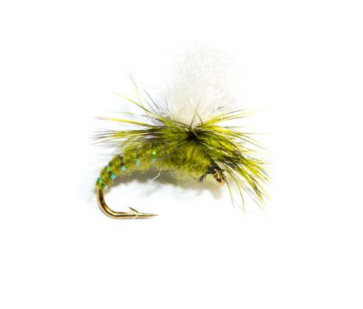 Dry Parachute Olive Emerger, Fish Fishing Flies Brand Quality