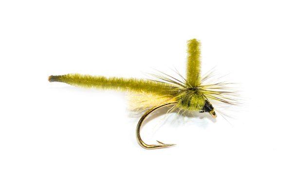 Fish Fishing Flies Brand Quality Dry Parachute Olive Midge