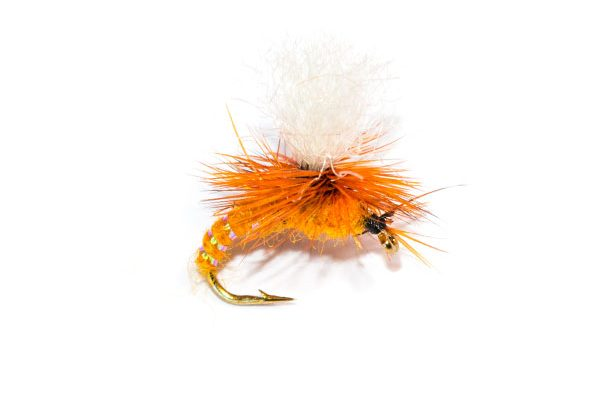 Fish Fishing Flies Branded Premium Fishing Flies Dry Parachute Orange Emerger