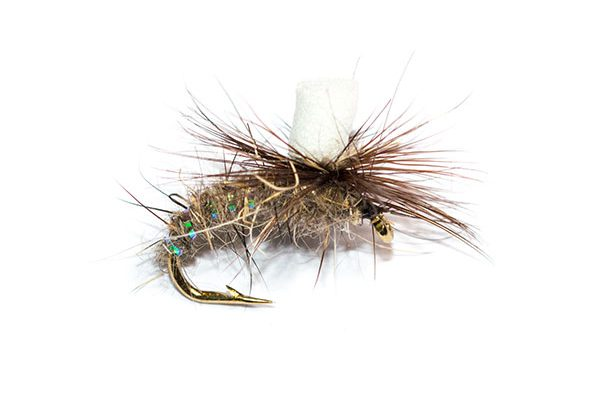 Fish Fishingh Flies Branded UK Fishing Fly Quality, Hares Ear Suspender Parachute
