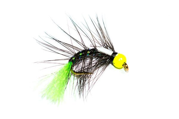 Highest Quality Snatcher Flies Available at Sensible Prices, Fish Fishing Flies Hot Head Black Snatcher Green Tag