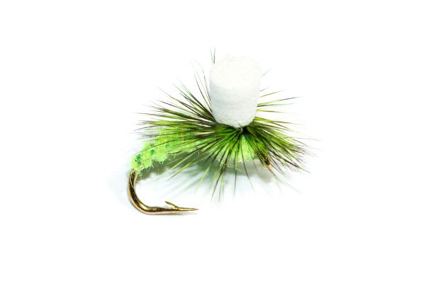 Fish Fishing Flies Brand Quality, Light Green Suspender Parachute