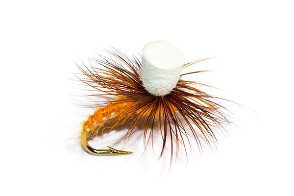 Best Quality Fishing Flies for sensible money. Orange Suspender Parachute