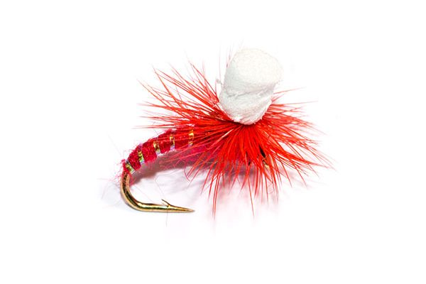 Fish Fishing Flies Brand Quality Red Suspender Parachute