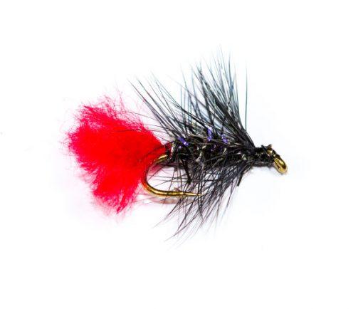Wet Fishing Flies Straggle Fritz Black Zulu Wet