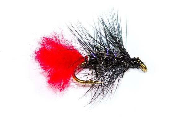 Wet Fishing Flies Straggle Fritz Black Zulu Wet