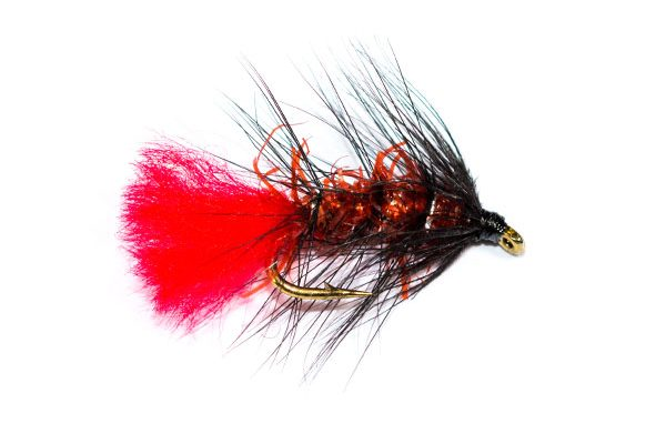 Fish Fishing Flies Brand, Straggle Fritz Black & Red Zulu Wet