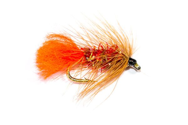 Fish Fishing Flies Branded, Straggle Fritz Soldier Palmer Wet