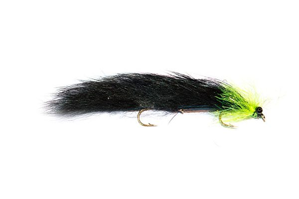 Fish Fishing Flies Brand, Black and Green Mini Snake