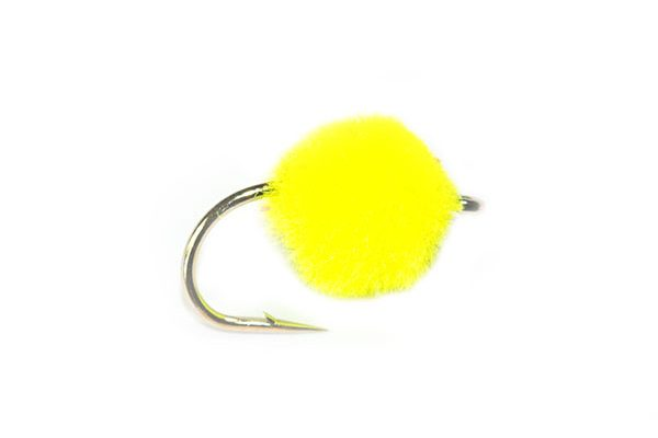 Trout Fishing Flies, Day Glo Yellow Crystal Egg