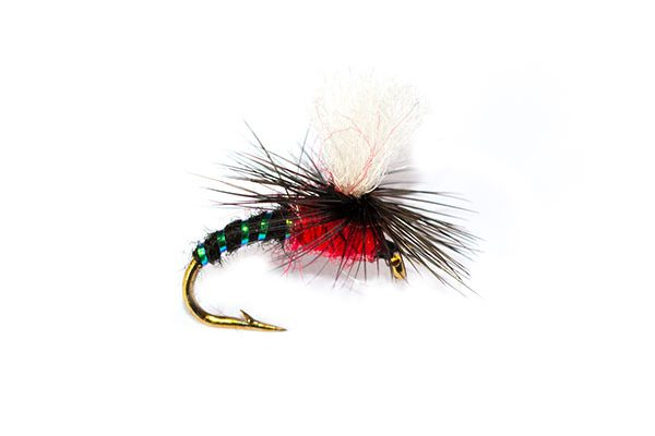 Dry Fishing Flies Dry Parachute Black & Red Special
