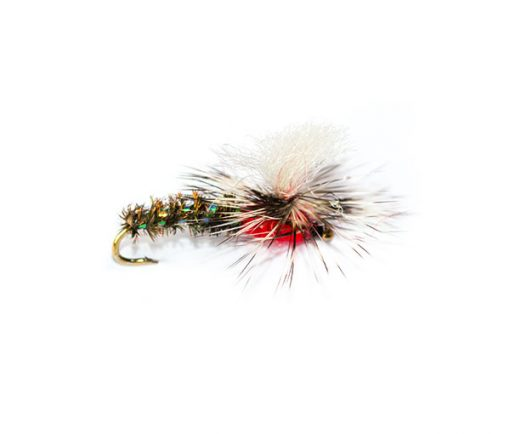 Trout Flies, Dry Parachute Emerger Red Head Special
