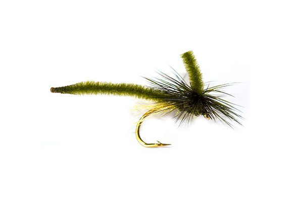 Trout Fishing Fly Dry Parachute Midge Dark Olive