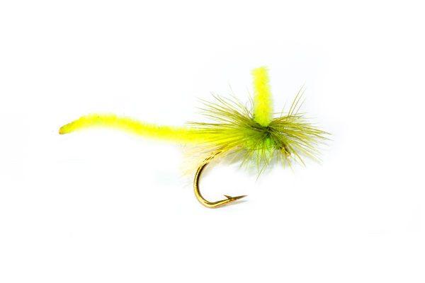 Fish Fishing Flies Brand Quality, Dry Parachute Midge Light Green