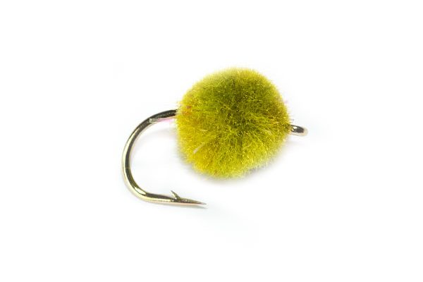 Trout Fishing Flies, Olive Crystal Egg
