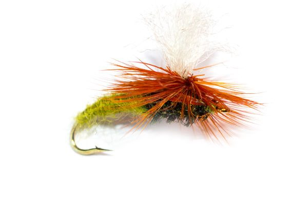 Fish Fishing Flies, Olive Klinkhammer Emerger