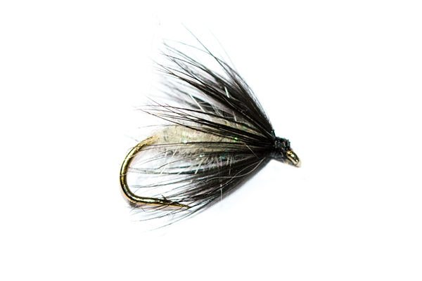 Fish Fishing Flies Brand, Black Spider UV Pearly Body