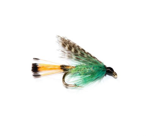 Fish Fishing Flies, Teal Blue and Silver Pearly Sparkle Body