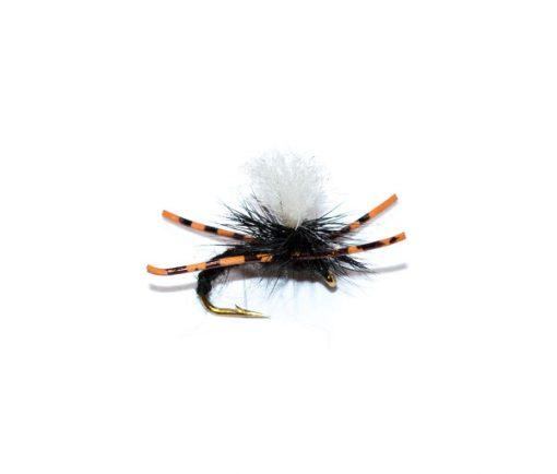 Kicking Klinkhammer Black with legs. Fish Fishing Flies quality.