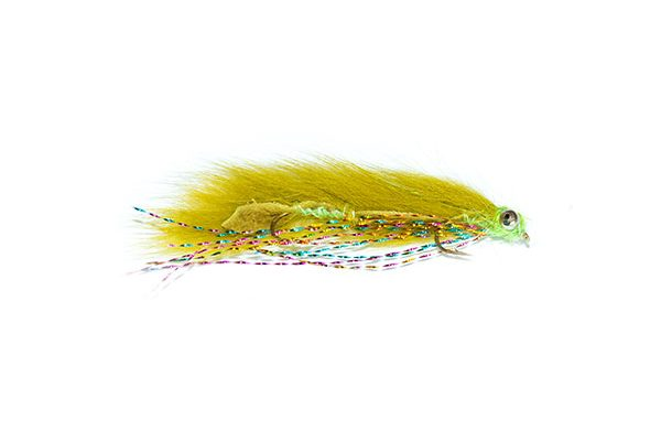 Mini Olive Snake with Rainbow Flash
