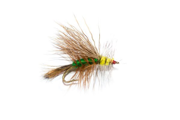 Mini Stimulator Green Dry Fly find this and 2000 other fishing fly types at http://www.fish-fishingflies.co.uk