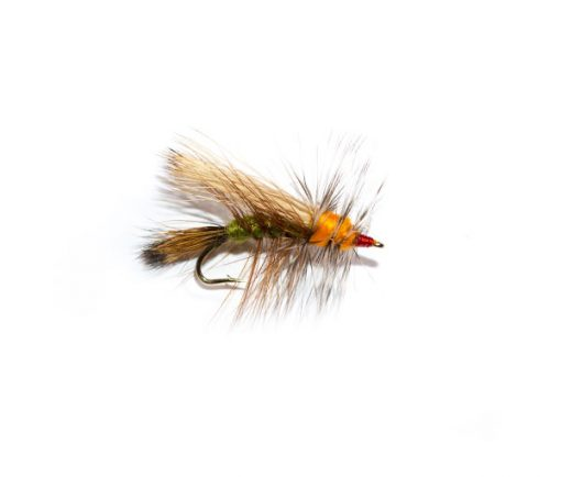 Fish Fishing Flies http://www.fish-fishingflies.co.uk Olive and Orange Stimulator Dry Fly