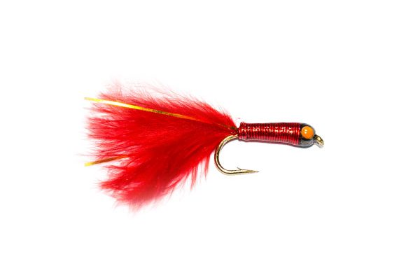 Stalking Bug Bright Red, finest quality hand tied fishing flies