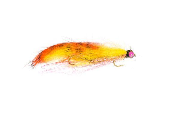 UK Fishing Flies online, Fish Fishing Flies bring you teh Stripped Orange Mini Snake