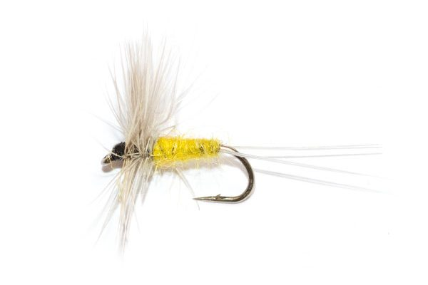 Badger-and-Yellow-Dry from fish fishing flies