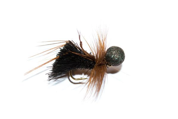 Fishing Flies on line fast delivery massive selection and quality you can trust Black Deer Hair Sedge Brown Hackle Booby Head