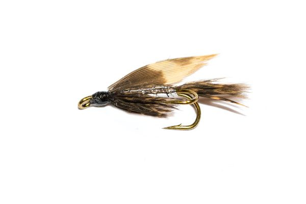 March Brown & Silver Double Wet Fly