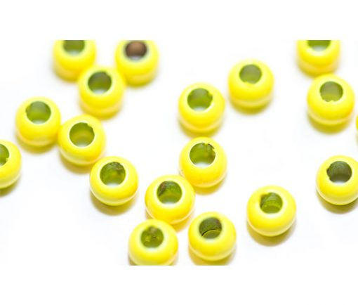 Brass Beads Hi Vis Yellow Colour. Fish Fly Tying Materials