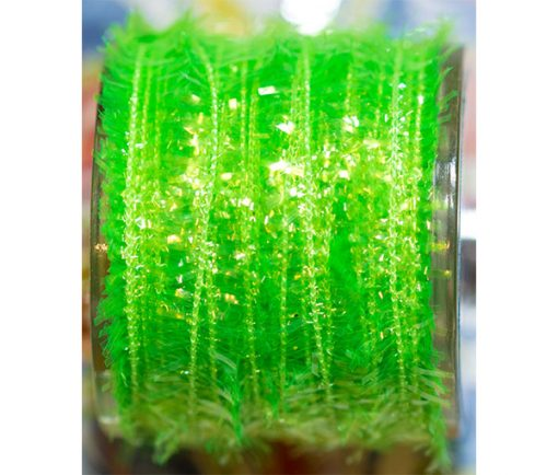 synthetic fly tying materials fritz cactus chenille Waterburn Synthetic Line 7mm Cactus Straggle Mini Fritz lime green