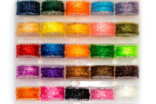 25 combo box of micro waterburn fritz materials for fly tying