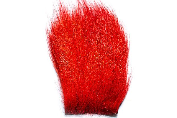 Waterburn Fly Tying Materials, Calf Hair Patch Red 75mm x 60mm aprx