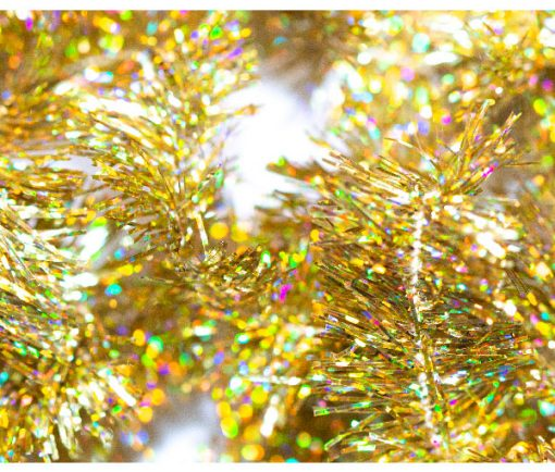 Blob Fritz Fly Tying Materials, Gold Sparkle 15mm Fritz