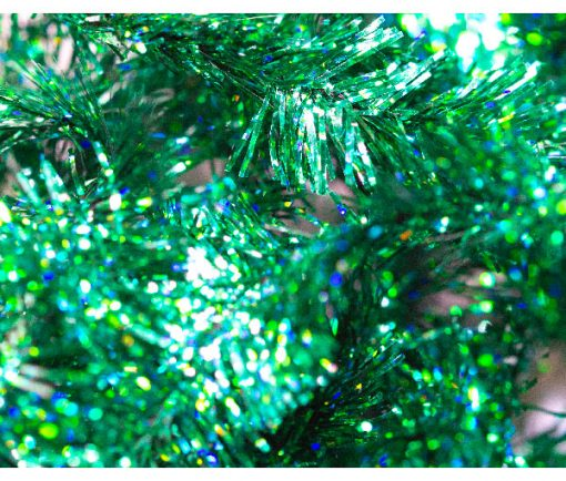 Buy Online or Tie your own at home, Green Sparkle 15mm Fritz