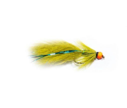 Fish Fishing Flies Hi Vis Orange Hot Head Blue Flash Damsel
