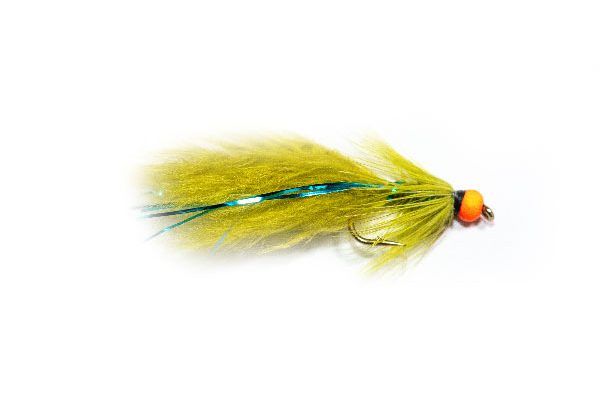 Fish Fishing Flies Hi Vis Orange Hot Head Blue Flash Damsel
