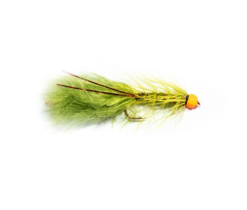 Fishing Flies UK Hi Vis Orange Hot Head Red Flash Damsel