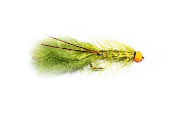Fishing Flies UK Hi Vis Orange Hot Head Red Flash Damsel