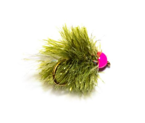 Fish Fishing Flies brings you the superb range of trout fishing flies online. Pink Hot Head Olive Blob