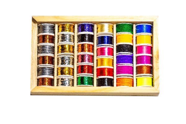 36 Spool Multi Selection Box ( fly tying Threads, Floss, Wire and Wool)
