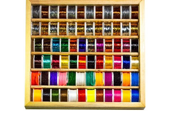 72 Spool Multi Selection Box (fly tying Threads, Floss, Wire and Wool)